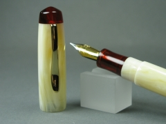 "Custom Muse - ""Bama Pen"" in Alabaster and Ruby Tortoise"