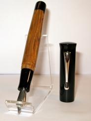 Custom Flared-Top in Briar & Black Acrylic