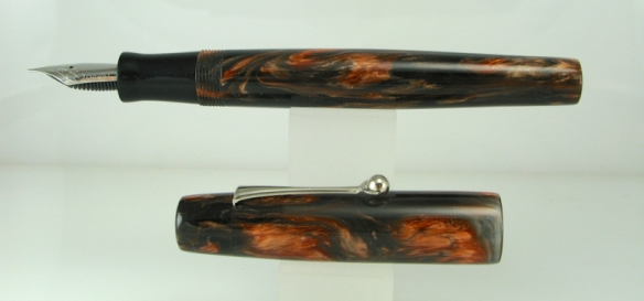 Scrivener in Black and Tan alumilite - 1