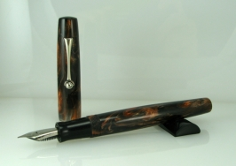 Scrivener in Black and Tan alumilite - 2