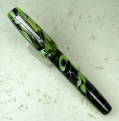 In Eyedropper mode -- filled with Diamine Green-Black ink.