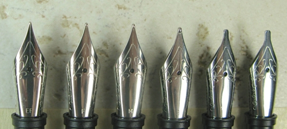 Steel Nib Sizes