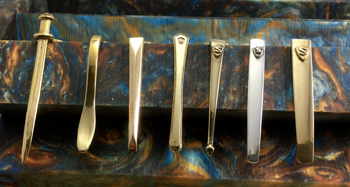 L to R: Excalibur, Spoon, Chisel, Nouveau, Classic, Slim Modern, Wide Modern