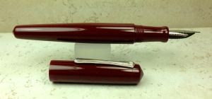 Custom Design in Urushi Red Acrylic, Nakaya Naka-ai style