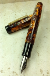 Balladeer in Rusty Minerals alumilite & Japanese Ebonite - Large