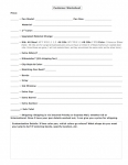 Customer Worksheet