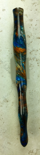 Custom Wavy Dip Pen in Mineral Sea