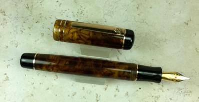 Exemplar in Illuminated Amber Tortoise & Black Acrylic - Large
