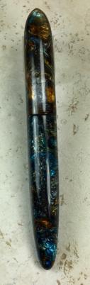 Custom Troubadour with flush cap & barrel in Mineral Sea - Oversized
