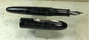 Custom King of Pen Style in Conway Stewart Graphite & Black Ebonite