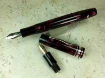 Custom MB 139 Style in Classic Claret acrylic & Black Ebonite