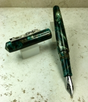 Custom Pen in a Naka-ai Style with an Iguana on the clip
