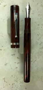 Custom Design in Red Ripple Ebonite from Conway Stewart, Slim