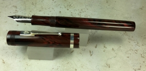 Custom Design in Red Ripple Ebonite from Conway Stewart, Slim