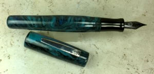 Scribe in Ocean's Obsidian & Black Ebonite - Oversized