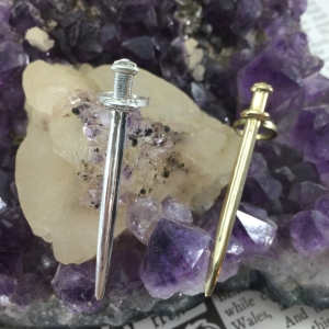 Excalibur Clip in Silver & Brass. Also available in Bronze.