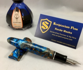 Zephyr in Mineral Sea Lava Explosion and Black Ebonite - Large