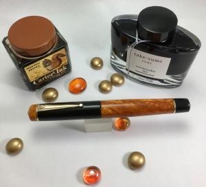 Idyll in Big Easy Gold aAlumilite and Black Acrylic - Medium