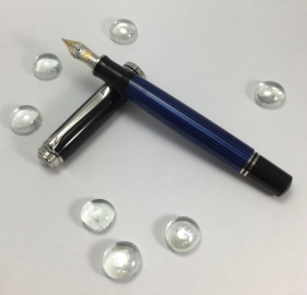 Pelikan Souverän M805 Blue Stripe - 18k Medium Nib