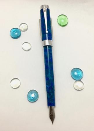 Custom in CS Silver Duro style - Cerulean Blue & Aluminum - Small