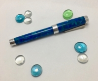 Custom in CS Silver Duro style - Cerulean Blue & Aluminum - Small