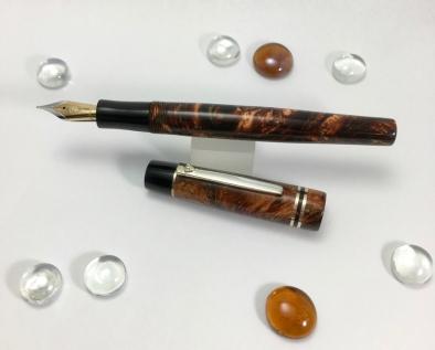 Scrivener in Autumn Colors Lava Explosion & Black Ebonite - Small