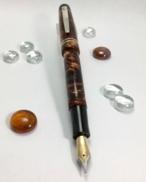 Scrivener in Autumn Colors Lava Explosion & Black Ebonite - Small