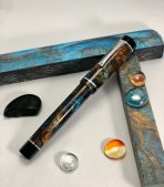Chronicler in MIneral Sea & Black Ebonite - Large