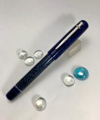 Custom style in Parker Blue Lizard Celluloid & CS blue Stardust - Medium