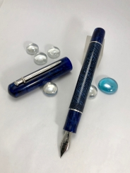 Custom style in Parker Blue Lizard Celluloid & CS blue Stardust - Medium