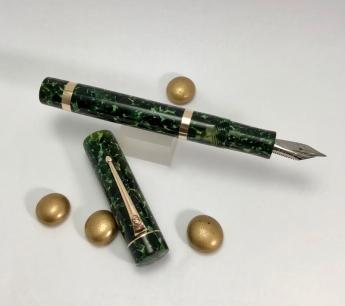 Custom in Classic Green with Bronze Trim - Medium
