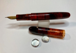 Extended Zephyr in Red Amber Lucite - Large