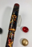 Scribe in Blue Fire alumilite & Urushi Red acrylic - Medium