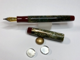 Wordsmith in Olive Branch Lava Explosion & Urushi Red - Small