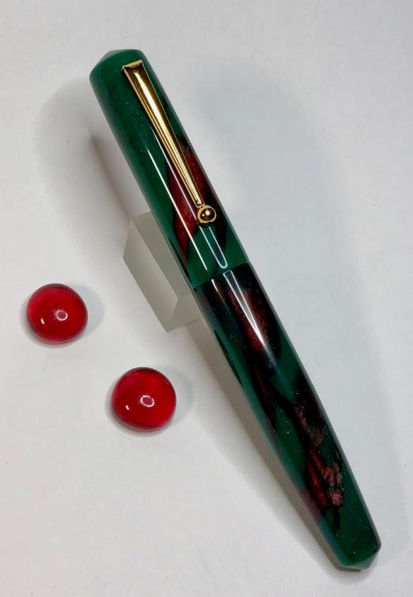 Idyll in Emerald of Chivor Alumilite - Medium, Tapered to Post