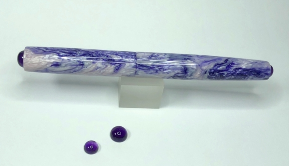 Illuminaire in Wisteria Alumilite with Amethyst Cabochons - Small
