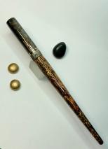 Literati Academe Dip Pen in Bronze Elvenwood & Moss Agate Acrylic