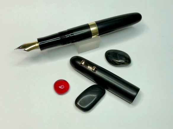 Custom Sonneteer in African Blackwood and Ebonite with #8 Nib - Large
