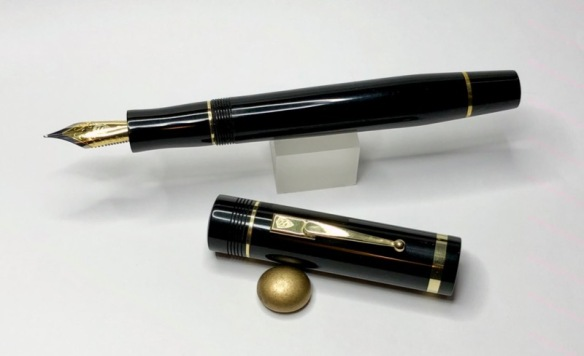 Churchillized Epic in Black Ebonite - Medium