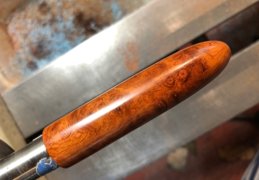 Custom Amboyna Burl Wood & Cumberland Ebonite - Oversized