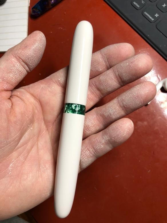 Zephyr in Casein and Green Ice Kirinite - Medium